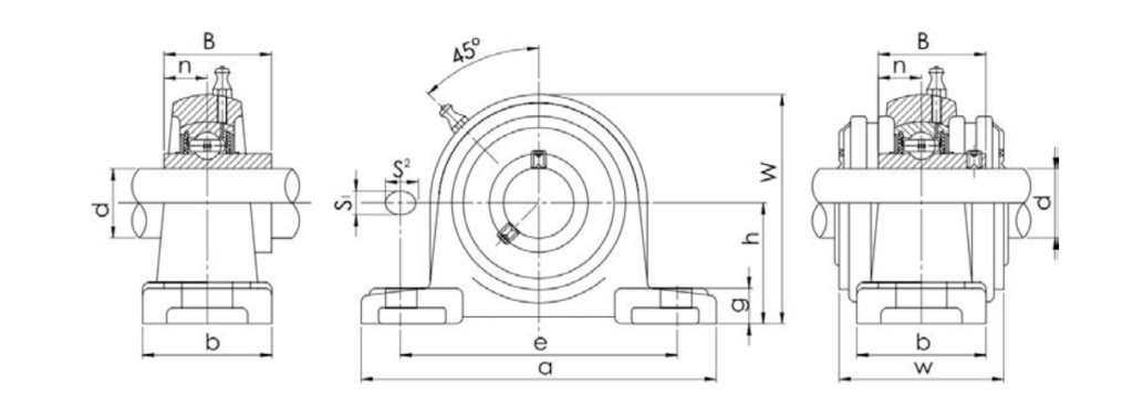Bearing Unit UCP Type Structure Diagram