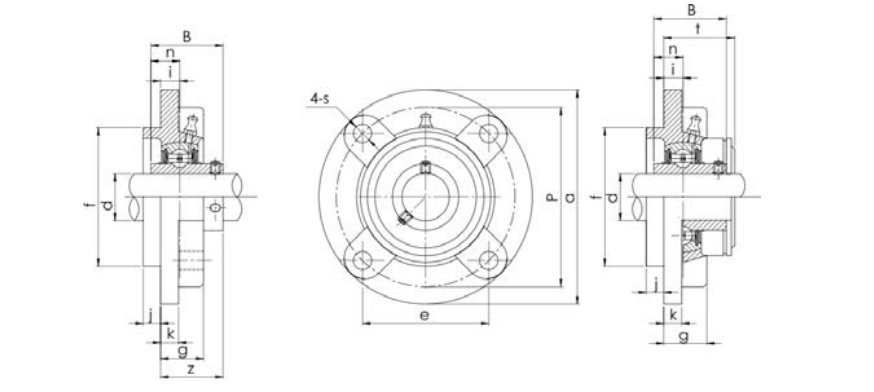 Structure diagram of bearing unit UCFC
