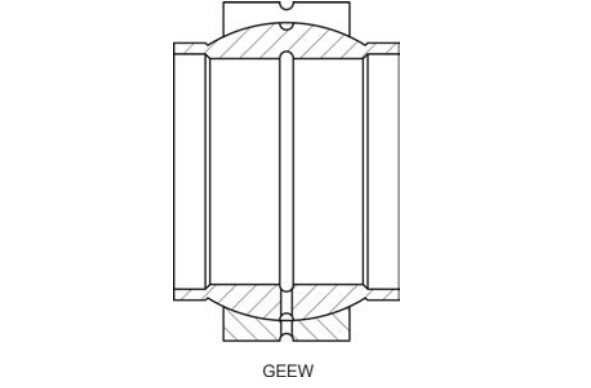 Structural drawing of the spherical plain bearing GEEW series