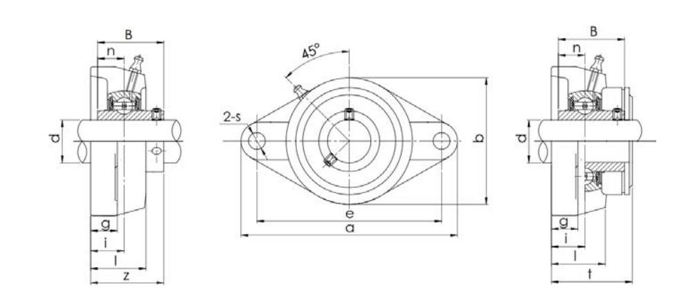 Bearing unit UCFL type structure diagram