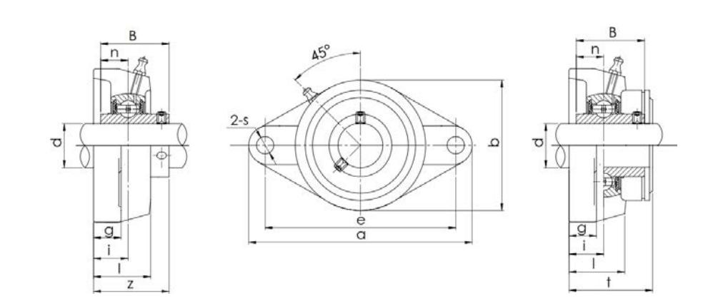Bearing unit UCFL type structure diagram