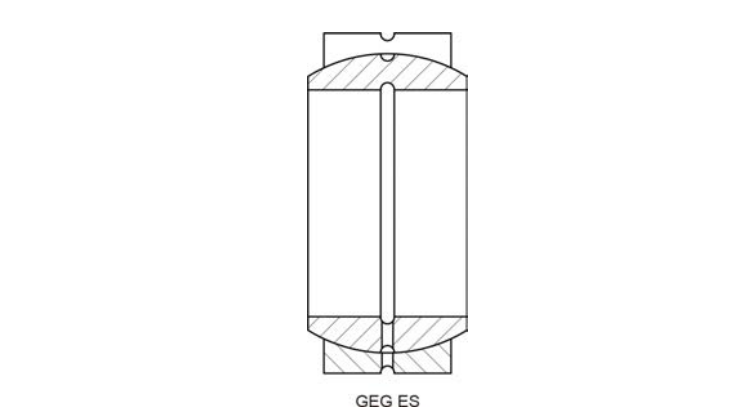 Structural drawing of spherical plain bearing GEG series