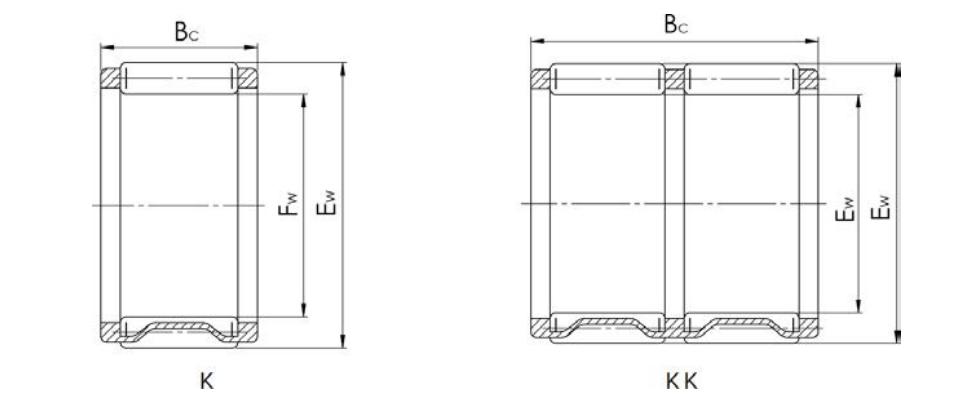 Needle Bearing K Series Bearing Structure Diagram
