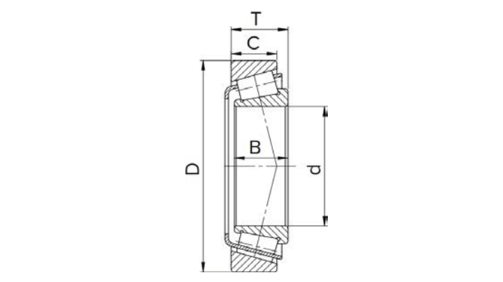 Structure diagram of tapered roller bearing