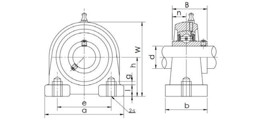 Bearing unit UCPA type structure diagram