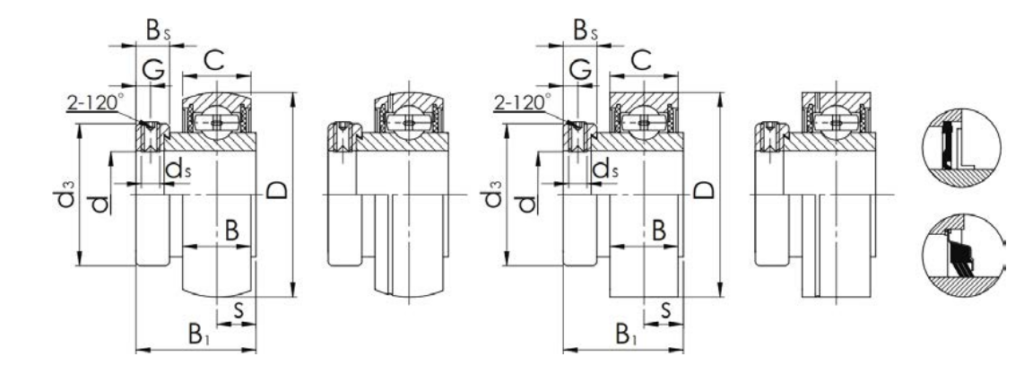 Insert Bearing SA-type Structure Diagram