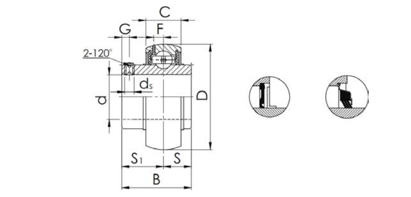 Inserted Bearing UC-type Structure Diagram